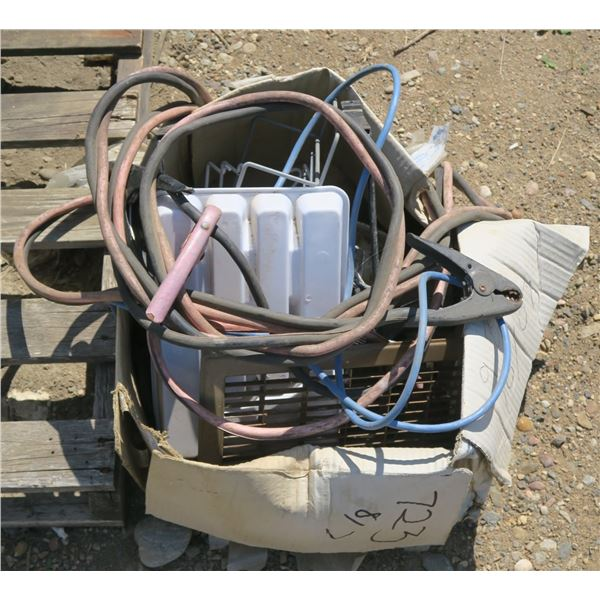 Box of Extension Cords/ Booster Cables/ Etc.