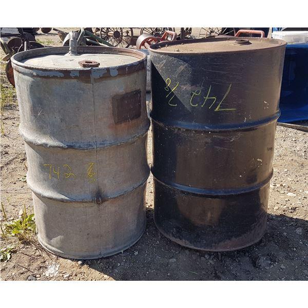 2 Metal Barrels