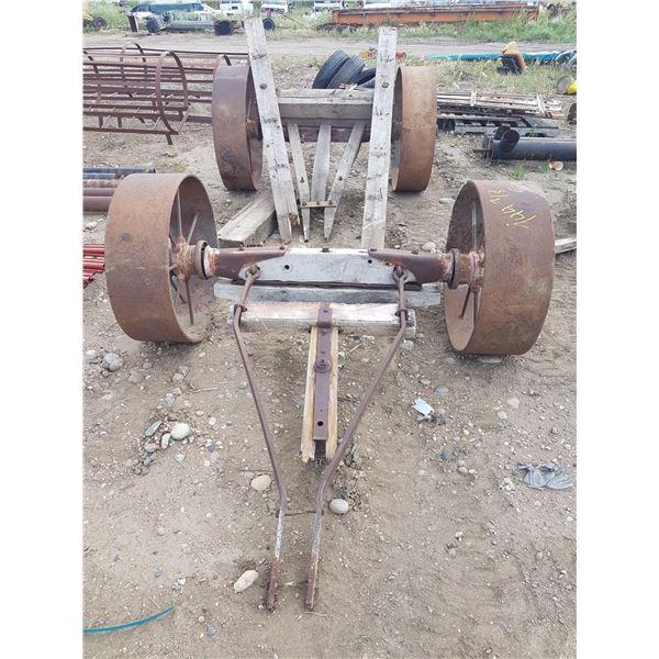 2 Axles With Steel Wheels