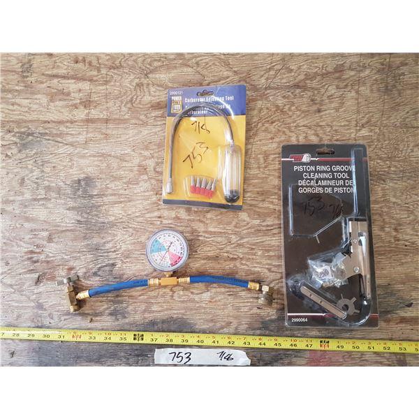 A/C Gauge & Carb Tool & Piston Ring Tool
