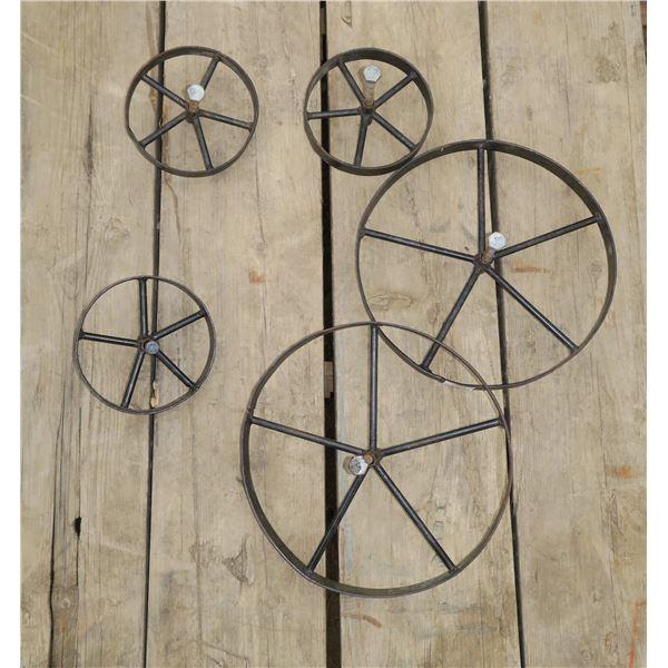 5 Small Steel Wheels