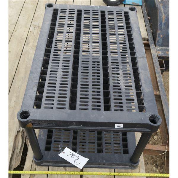 "Black Storage Shelf/Table 36""×24""×21"""