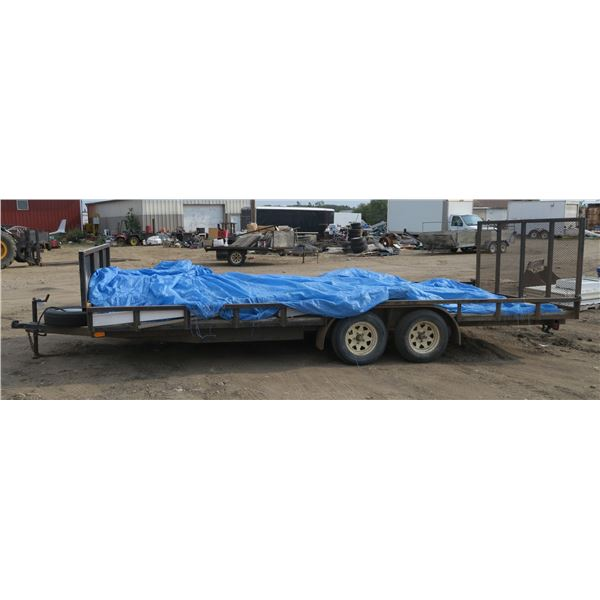 """2011 trailer 5UPTU2021BB002649 Deck Size ~240""""×100"""" (Contents on Trailer Not Included)"""