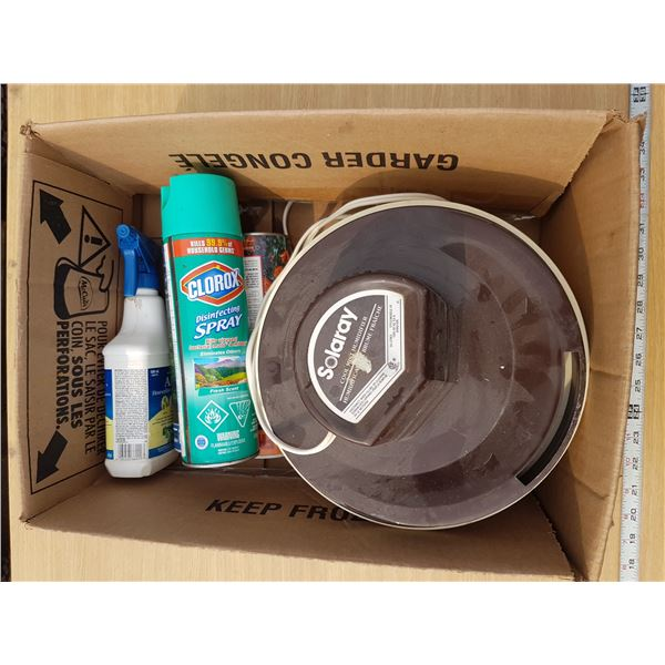 Humidifier & Various Cleaning Supplies Etc.