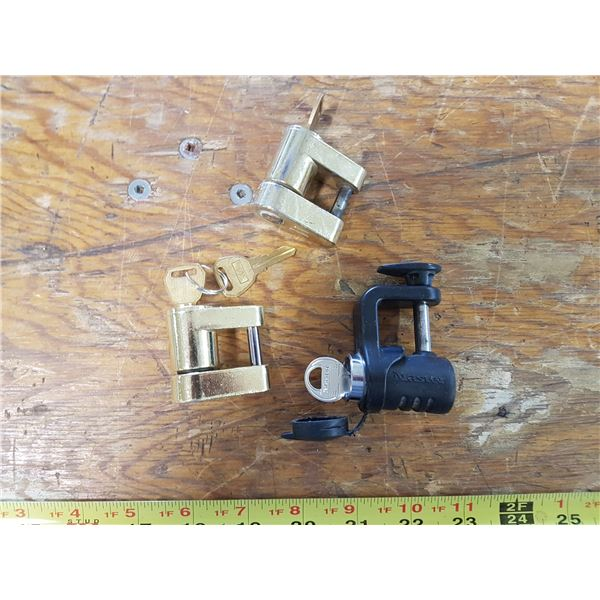 3 Trailer Locks With Keys