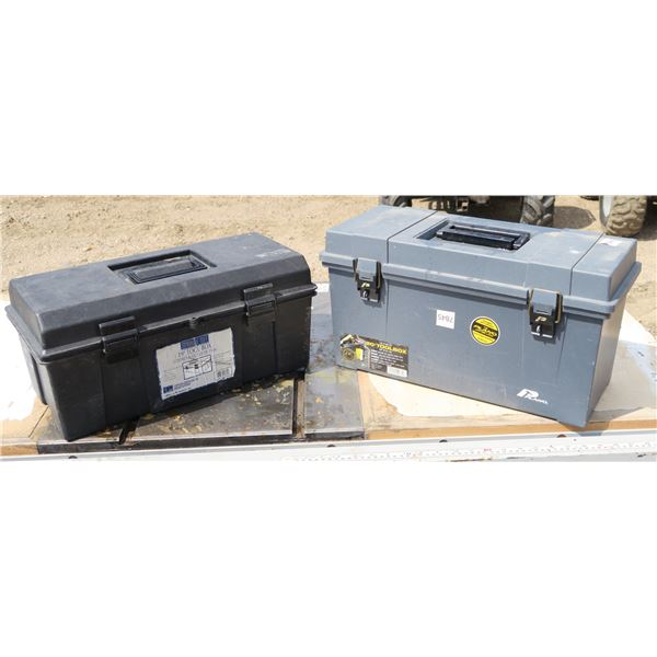 Lot of 2 Plastic Toolboxes