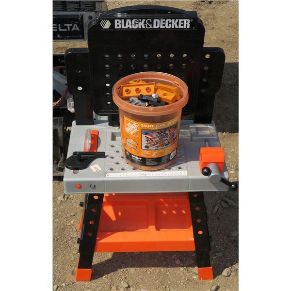 Kids Black & Decker Workbench Toy Set w/ Accessories