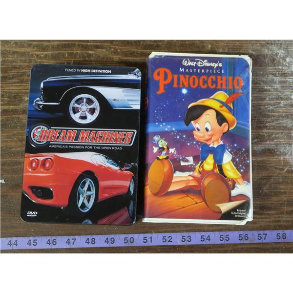 Dream Machines DVD set & Pinocchio VHS