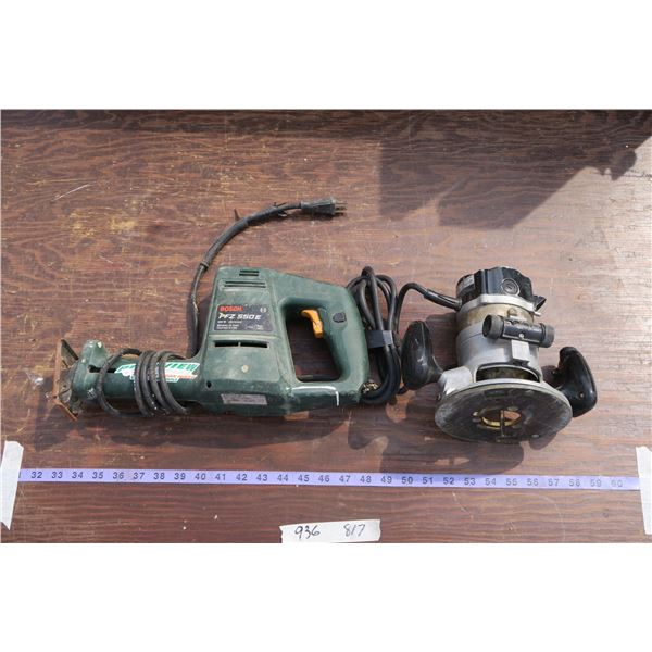 Bosch Reciprocating Saw & Router