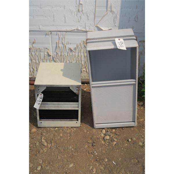 """2 Roll Door Storage Cupboards 33""""×15""""×14"""" & 18""""×17""""×15"""""""