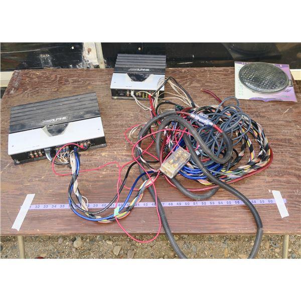 2 Amps + Speaker Wiring + Speaker Grills