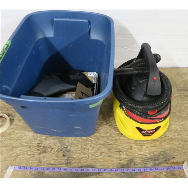 Small Wet/Dry Vac + Lot of Misc.