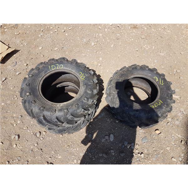 3 Quad Tires 2 X 26X9X12 & 1 X 26 X 11 X 12