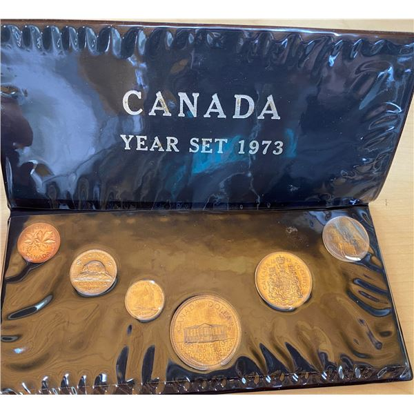 1973 6-coin Canadian Year Set.