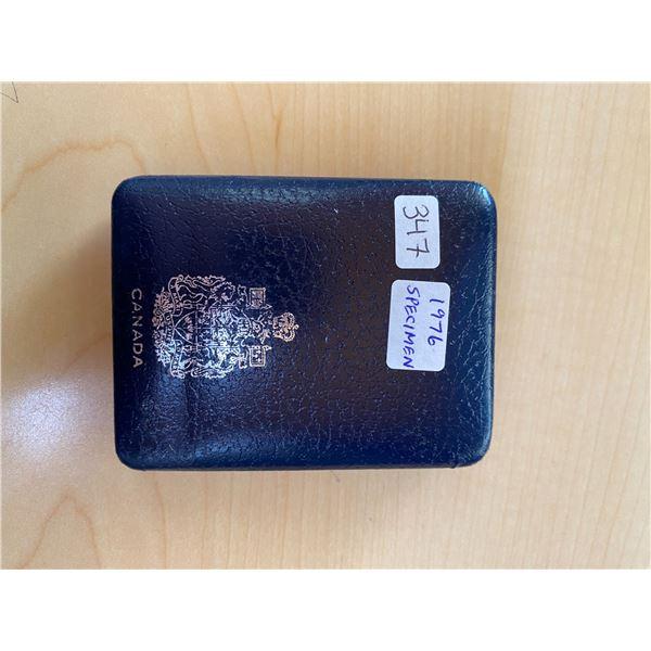 1976 Specimen Dollar. Housed in its original blue leatherette case. Specimen.