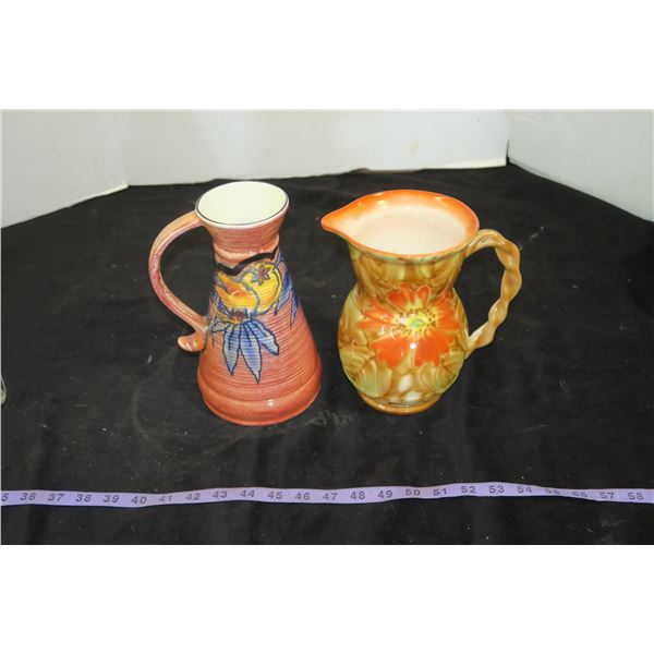 """Pair of English Pitchers, 8"""" & 9"""""""