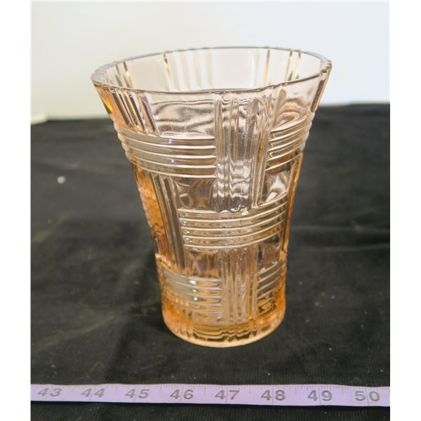 "Pink Vase, 7"" Tall"