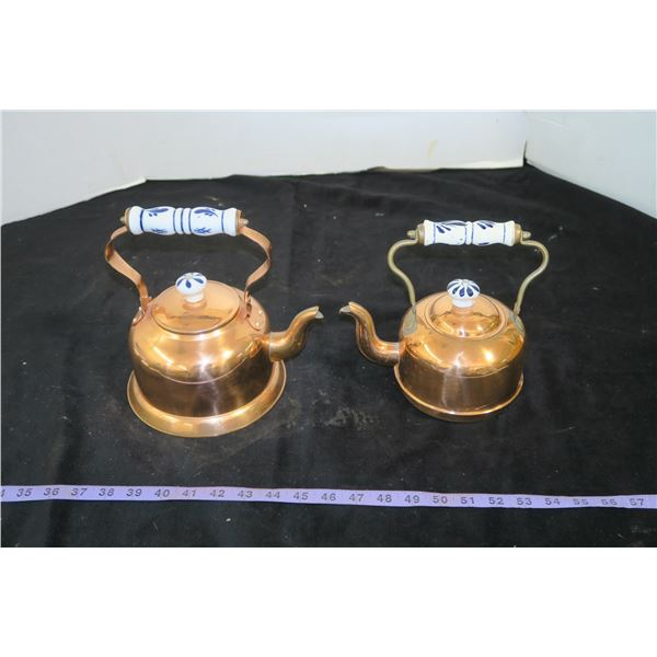 Two Copper Kettles