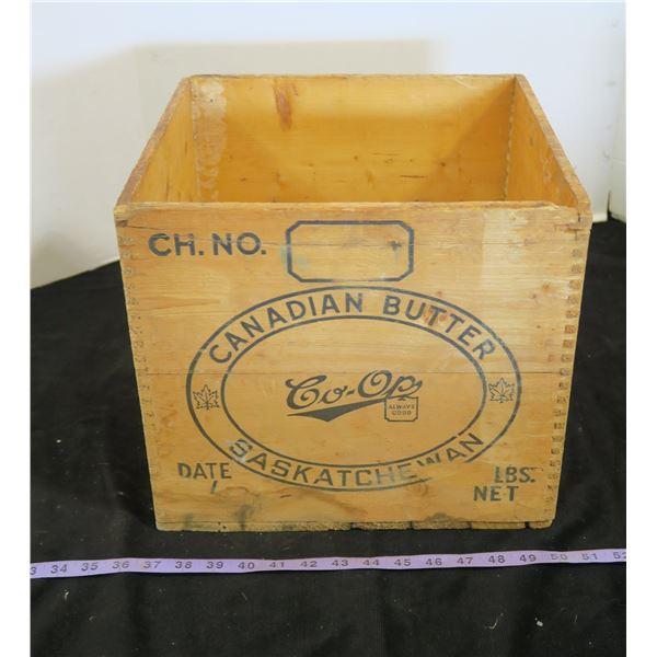 Vintage Co-Op Wooden Butter Box