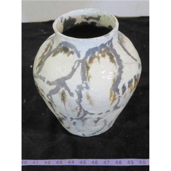 Pottery Vase/Lamp Base (Hole On Back)