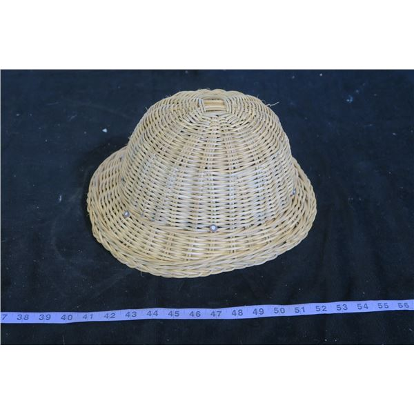 Vintage Woven Chinese Hardhat