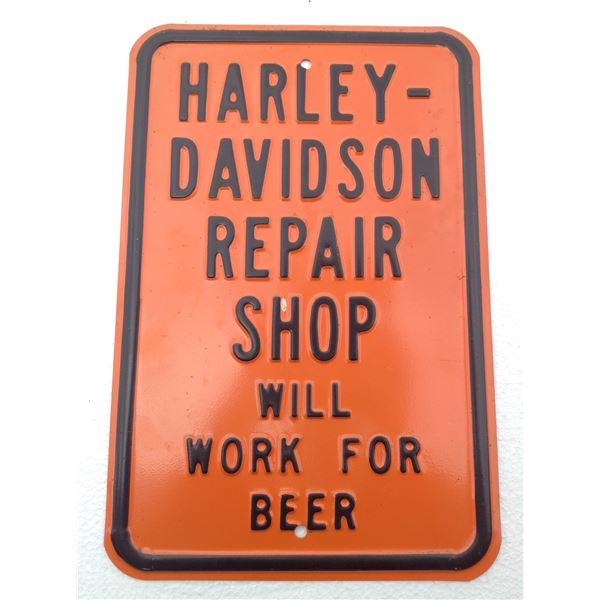 Metallic Harley Davidson Sign