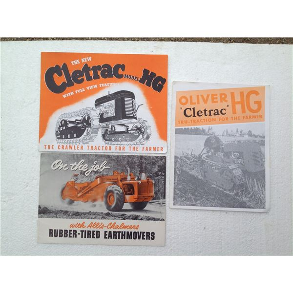 (2) Cleartrac & (1) Allis-Chalmers Colour Original Brochures