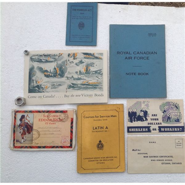 WWII Savings Bonds And Various Collectibles