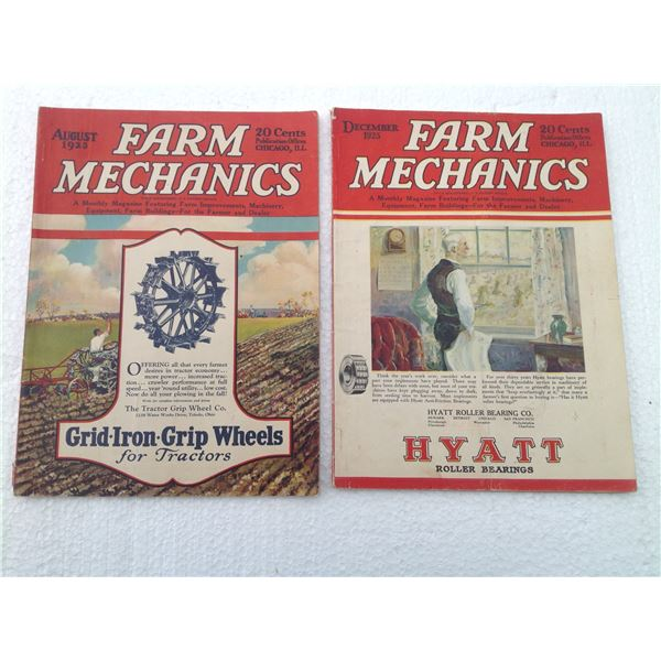 (2) 1926 Farm Mechanic Magazines