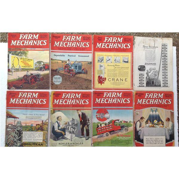 (8) 1926 Farm Mechanic Magazines