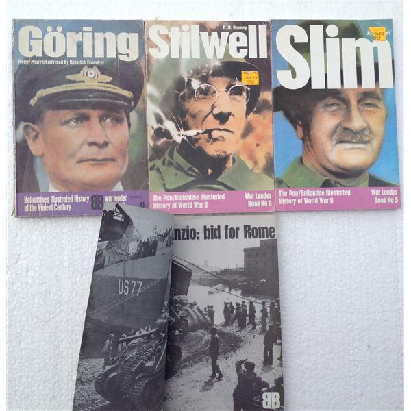 (4) Ballantine WWII Books