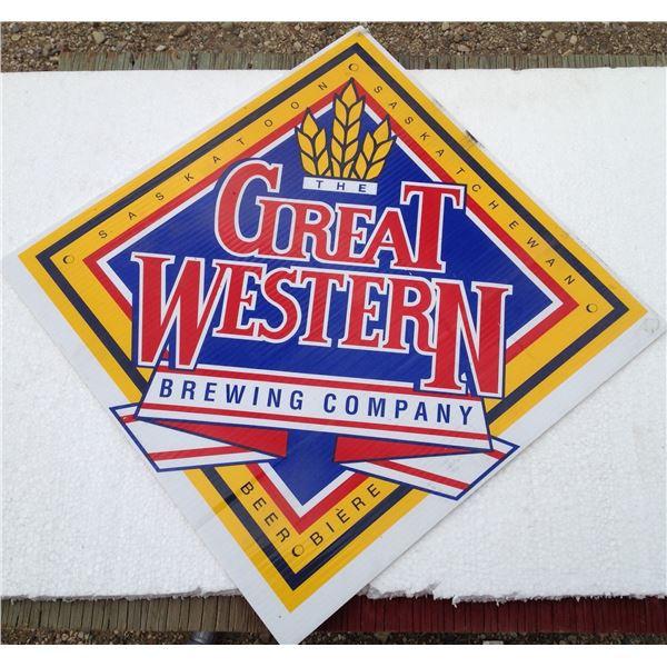 """Great Western 2 Sided Cardboard Sign 18""""x18"""""""