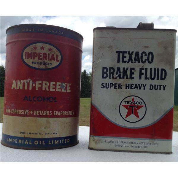(2) Texaco Tins