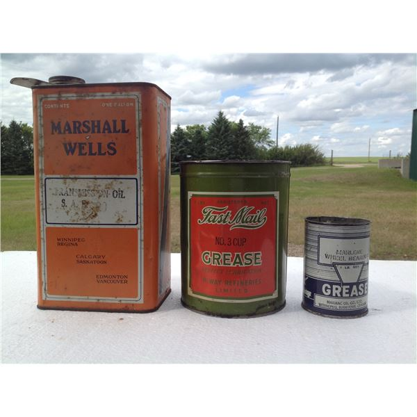 Miscellaneous Grease Oil Tins