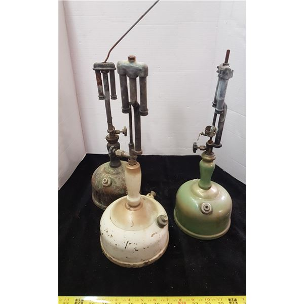 3 Vintage Oil Lanterns