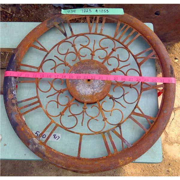 """Decorative Tin Clock Face 22"""" Diameter"""