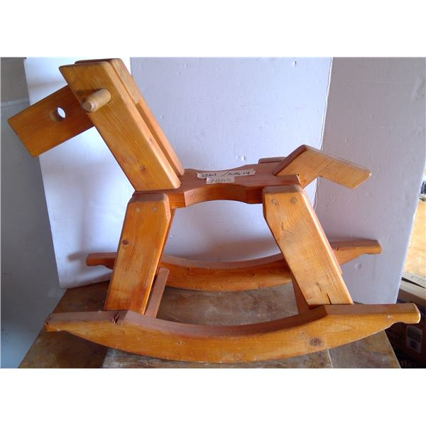 "Wooden Rocking Horse 30""L x 11.5""w x 22"" h"