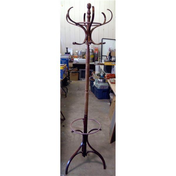 "Wooden Coat Rack - 72"" tall"