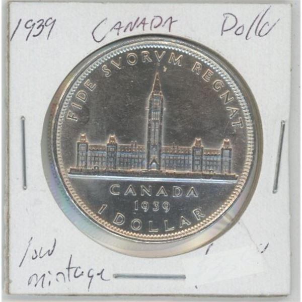 1939 Commemorative Silver Dollar - Low Mint 80% Silver, UNC
