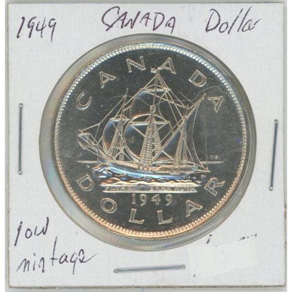 1949 Commemorative Silver Dollar - Low Mint 80% Silver, UNC