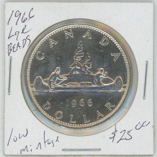 1966 Silver Dollar, 80% Silver