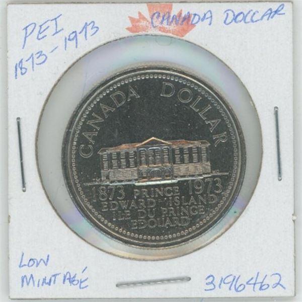 1873 - 1973 P.E.I. Centennial Cdn. Dollar