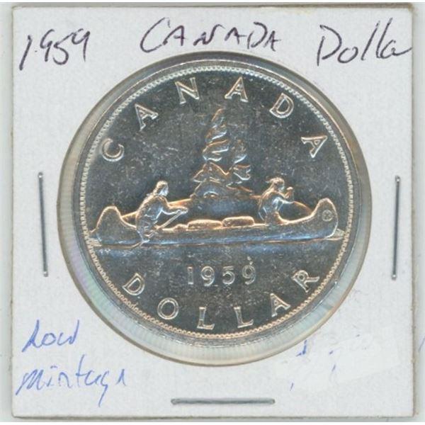1959 Cdn. Silver Dollar