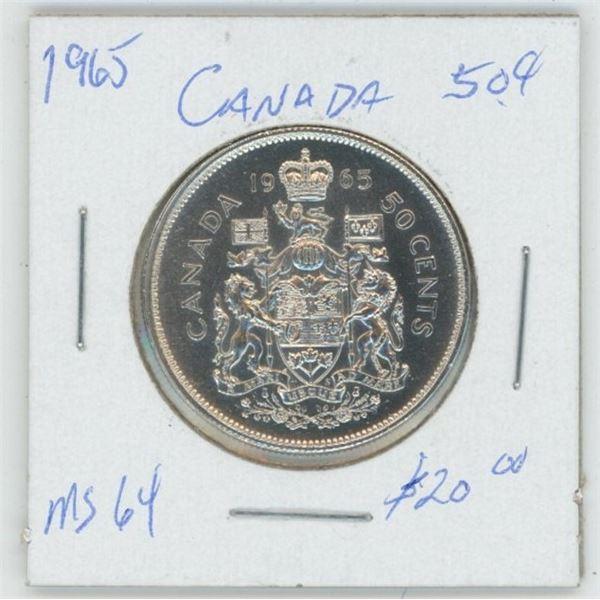 1965 Cdn. 50 Cent Piece