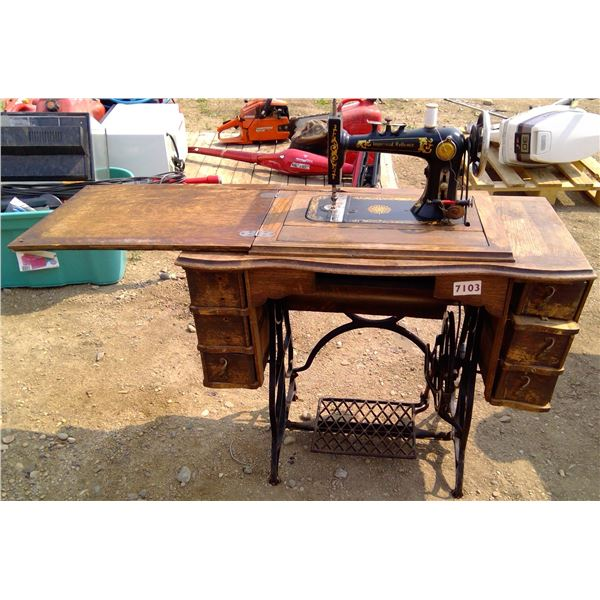 Eatons Treadle Sewing Machine - as is Condition