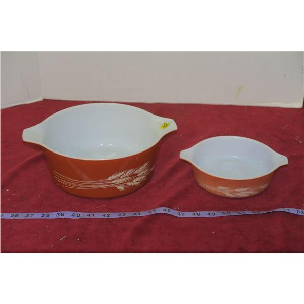 2 Wheatland Vintage Pyrex Cinderella Bowls