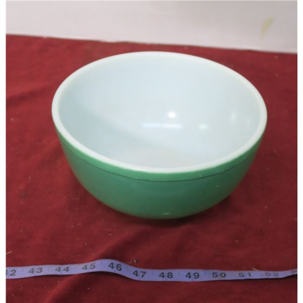 Vintage Pyrex Green Primary Bowl