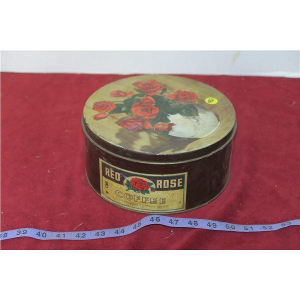 Red Rose Coffee Tin