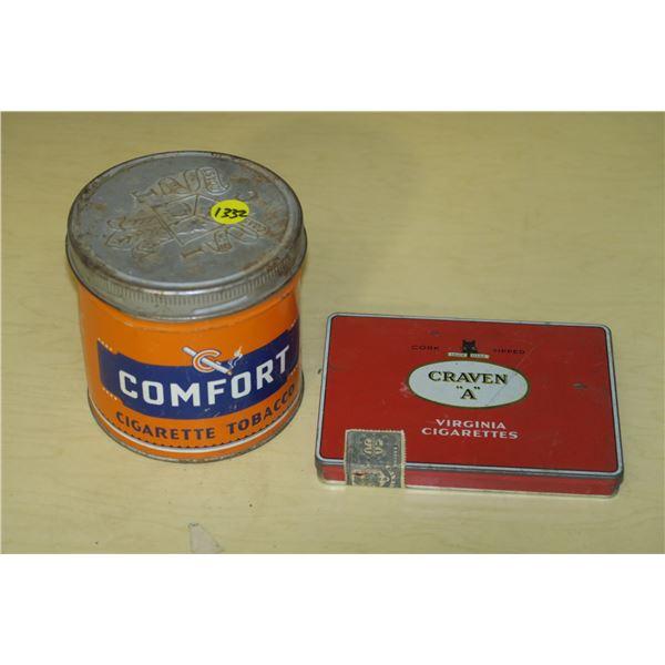 2 Vintage Cigarette/Tobacco Tins
