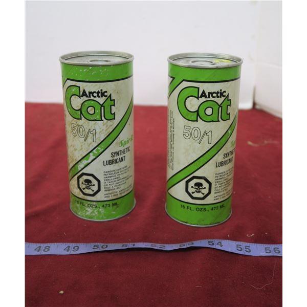 2 Full Vintage Artic Cat 2 Stroke Oil